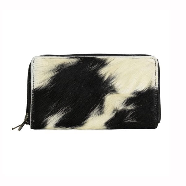 Wallet Cow  Black   Cotton 20x12x3